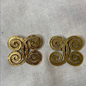 CHANEL LARGE Authentic Chanel Vintage Earrings